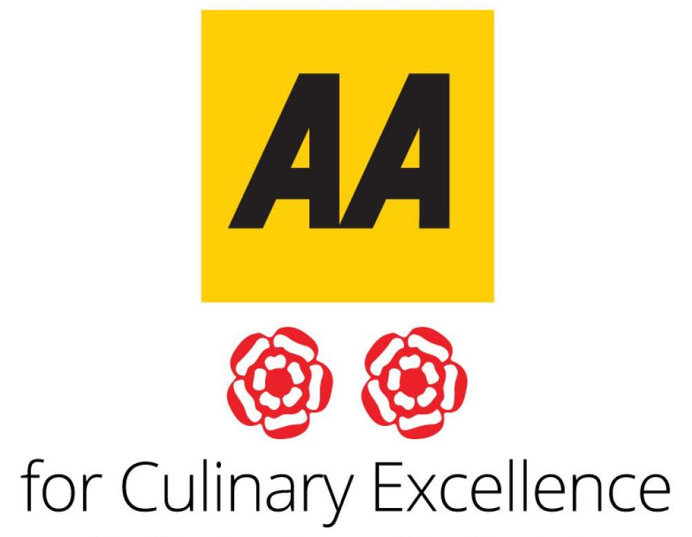 AA 2 Rosettes Award for Culinary Excellence 2015-2016